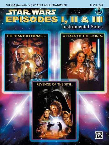 Noten&CD Star Wars Episodes 1-3 (+CD) : for viola and piano Williams, John