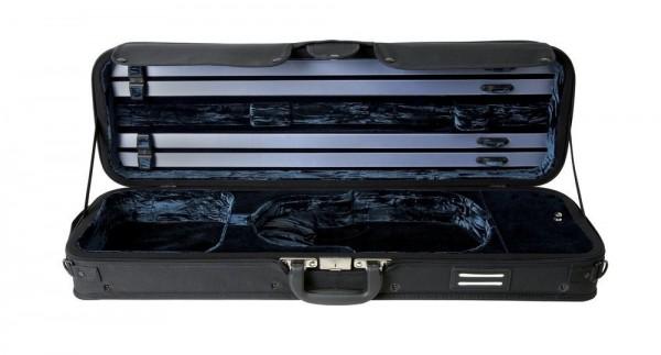 GEWA Violinkoffer Strato De Luxe 4/4 Größe Schwarz/Blau