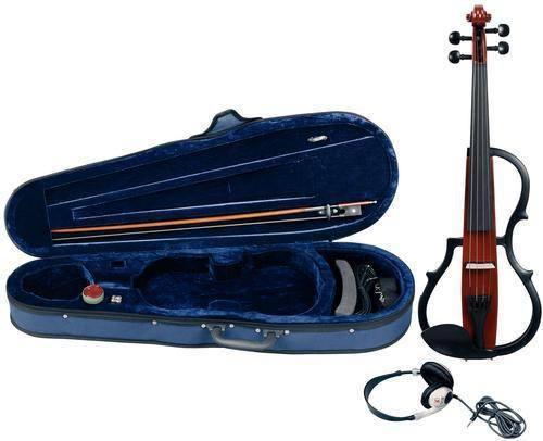 E-Geigenset mit E-Violine GEWA Line Rotbraun