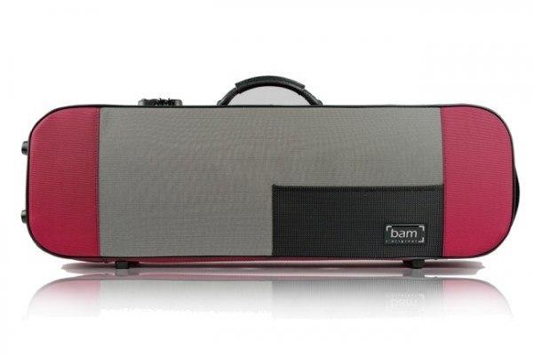 BAM Stylus 5001SR Violinetui Bordeaux/Silver 4/4