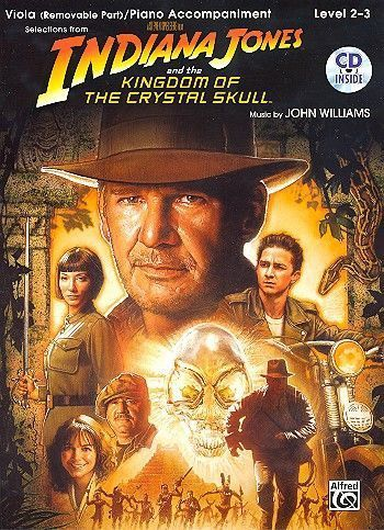 Noten&CD Indiana Jones and the Kingdom of the crystal Skull (+CD) for viola and piano John Williams
