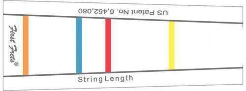 Gewa Griffbrettmarkierung für 1/2 Violine / Viola 31 cm