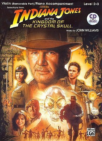 Noten&CD Indiana Jones and the Kingdom of the crystal Skull (+CD) for violin and piano John Williams