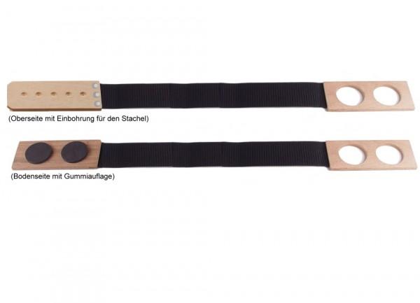 Stachelhalter für Cello Bodenschoner Holz mit Gurtband
