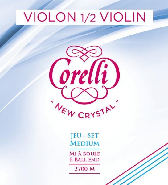 Corelli New Crystal D Violinsaite 1/2 Größe Silber Medium