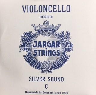 Jargar Cellosaite C Stahl/Silber Medium 4/4 Größe
