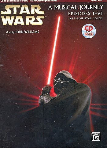 Noten&CD Star Wars Episodes 1-6 (+CD) : for violoncello and piano Williams, John