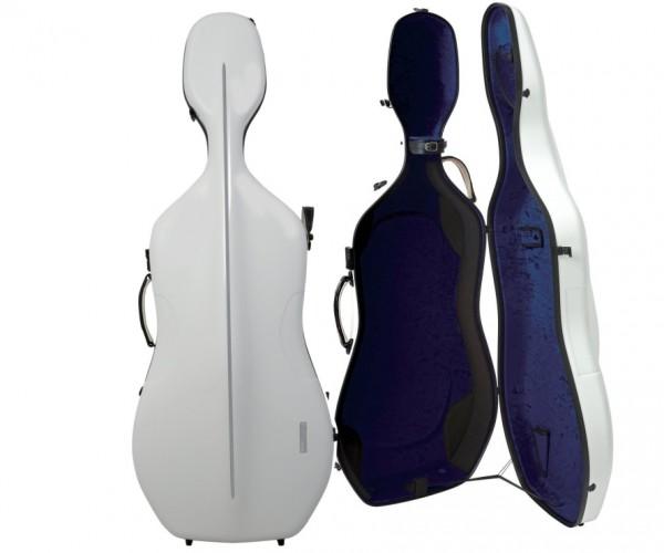 GEWA Air Cellokoffer 4/4 Größe Weiss/Blau