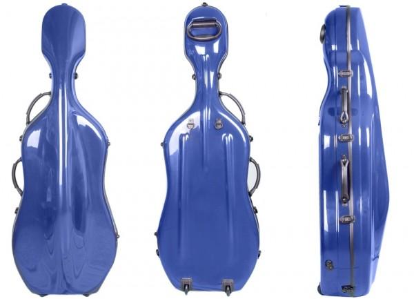 Cellokoffer Alosa CF-3 GFK-Kern Rollen Farbe Dunkelblau