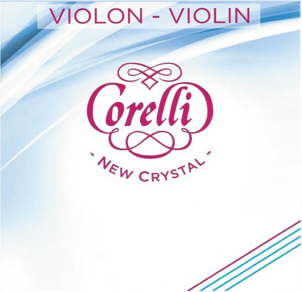 Corelli New Crystal D Violinsaite 4/4 Größe Silber Medium